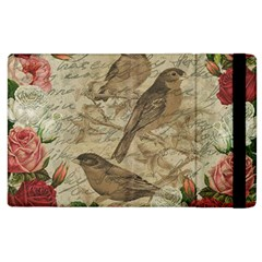 Vintage Birds Apple Ipad 2 Flip Case by Valentinaart