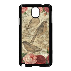Vintage Birds Samsung Galaxy Note 3 Neo Hardshell Case (black) by Valentinaart