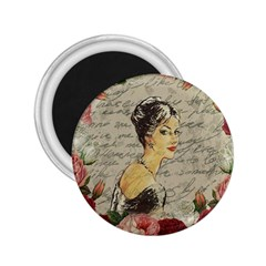 Vintage Girl 2 25  Magnets by Valentinaart