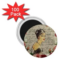 Vintage Girl 1 75  Magnets (100 Pack)  by Valentinaart