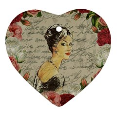 Vintage Girl Heart Ornament (two Sides) by Valentinaart