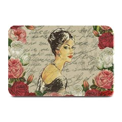 Vintage Girl Plate Mats by Valentinaart
