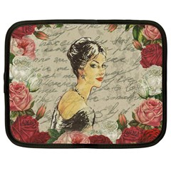 Vintage Girl Netbook Case (xxl)  by Valentinaart