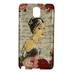 Vintage Girl Samsung Galaxy Note 3 N9005 Hardshell Case by Valentinaart