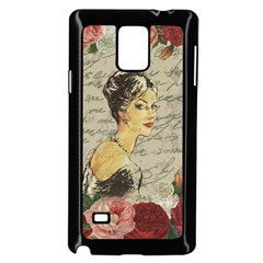 Vintage Girl Samsung Galaxy Note 4 Case (black) by Valentinaart