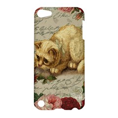 Vintage Kitten  Apple Ipod Touch 5 Hardshell Case by Valentinaart