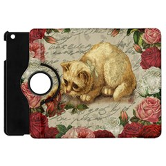 Vintage Kitten  Apple Ipad Mini Flip 360 Case