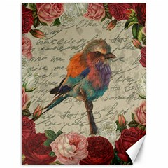 Vintage Bird Canvas 12  X 16   by Valentinaart