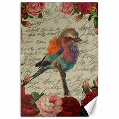Vintage Bird Canvas 20  X 30   by Valentinaart