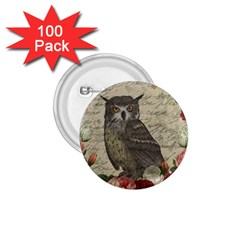 Vintage Owl 1 75  Buttons (100 Pack)  by Valentinaart