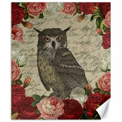 Vintage Owl Canvas 20  X 24   by Valentinaart