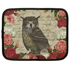 Vintage Owl Netbook Case (large)