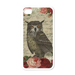 Vintage Owl Apple Iphone 4 Case (white) by Valentinaart