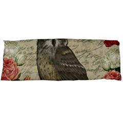 Vintage Owl Body Pillow Case (dakimakura) by Valentinaart