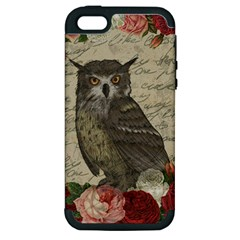 Vintage Owl Apple Iphone 5 Hardshell Case (pc+silicone) by Valentinaart