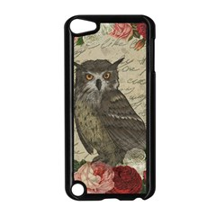 Vintage Owl Apple Ipod Touch 5 Case (black) by Valentinaart