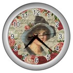 Vintage girl Wall Clocks (Silver)  Front