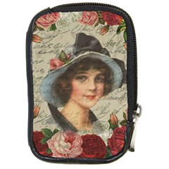 Vintage Girl Compact Camera Cases by Valentinaart