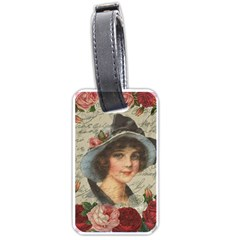 Vintage Girl Luggage Tags (one Side)  by Valentinaart