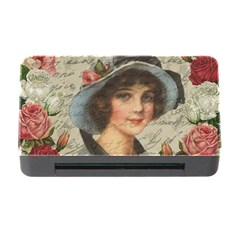 Vintage Girl Memory Card Reader With Cf by Valentinaart