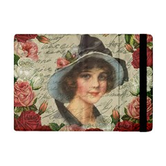 Vintage Girl Apple Ipad Mini Flip Case by Valentinaart