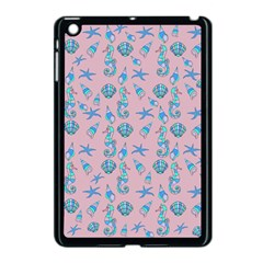 Seahorse Pattern Apple Ipad Mini Case (black) by Valentinaart