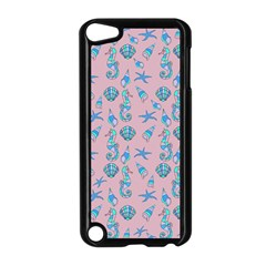 Seahorse Pattern Apple Ipod Touch 5 Case (black) by Valentinaart