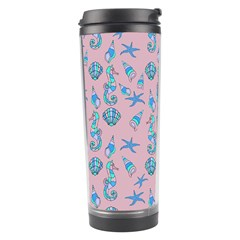 Seahorse Pattern Travel Tumbler by Valentinaart