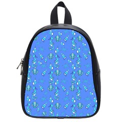 Seahorse Pattern School Bags (small)  by Valentinaart
