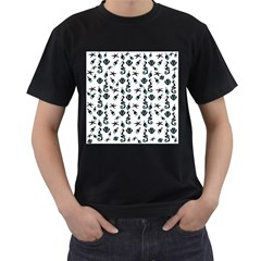 Seahorse Pattern Men s T Shirt (black) (two Sided)