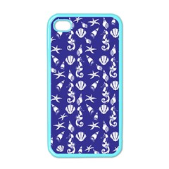 Seahorse Pattern Apple Iphone 4 Case (color)