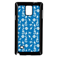 Seahorse Pattern Samsung Galaxy Note 4 Case (black) by Valentinaart