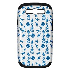 Seahorse Pattern Samsung Galaxy S Iii Hardshell Case (pc+silicone) by Valentinaart