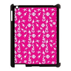 Seahorse Pattern Apple Ipad 3/4 Case (black)