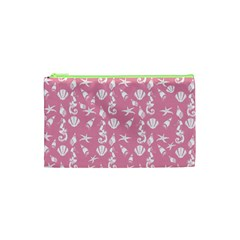 Seahorse Pattern Cosmetic Bag (xs) by Valentinaart