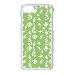 Seahorse Pattern Apple Iphone 7 Seamless Case (white) by Valentinaart