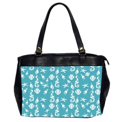 Seahorse Pattern Office Handbags (2 Sides)  by Valentinaart