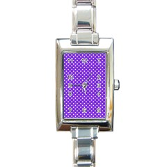 Polka Dots Rectangle Italian Charm Watch by Valentinaart