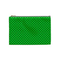 Polka Dots Cosmetic Bag (medium)  by Valentinaart