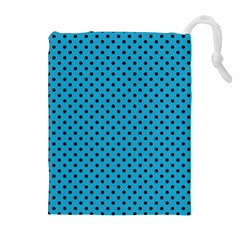 Polka Dots Drawstring Pouches (extra Large) by Valentinaart