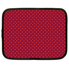 Polka Dots Netbook Case (xl)  by Valentinaart