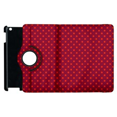 Polka Dots Apple Ipad 3/4 Flip 360 Case by Valentinaart
