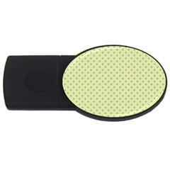 Polka Dots Usb Flash Drive Oval (4 Gb) by Valentinaart