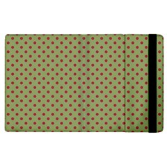 Polka Dots Apple Ipad 2 Flip Case by Valentinaart