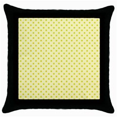 Polka Dots Throw Pillow Case (black) by Valentinaart