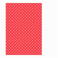 Polka Dots Small Garden Flag (two Sides) by Valentinaart