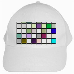 Color Tiles Abstract Mosaic Background White Cap