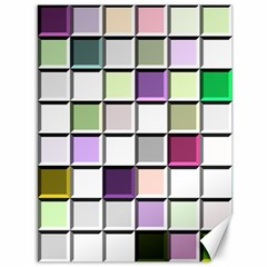 Color Tiles Abstract Mosaic Background Canvas 36  X 48