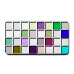 Color Tiles Abstract Mosaic Background Medium Bar Mats by Simbadda
