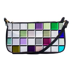Color Tiles Abstract Mosaic Background Shoulder Clutch Bags by Simbadda